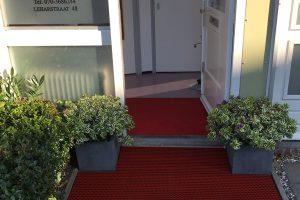 Borstelmat Rood Installatie Tandarts