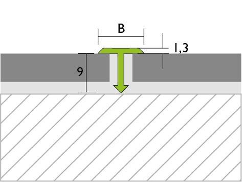 Proline Prodecor T Voegafdekprofiel Tekening Aluminium
