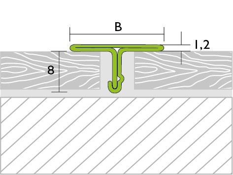 Proline Prodecor T Voegafdekprofiel Tekening RVS