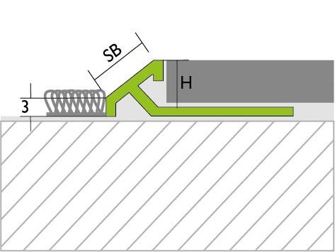 Proline Pronivo S Overgangsprofiel Tekening Aluminium