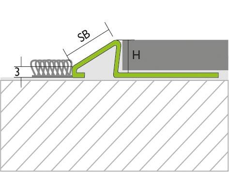 Proline Pronivo S Overgangsprofiel Tekening RVS