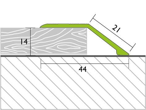 Proline Profinish Compensatieprofiel 14 mm Tekening Voorgeboord