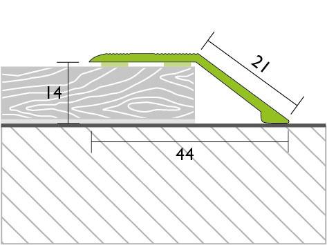 Proline Profinish Compensatieprofiel 14 mm Tekening Zelfklevend