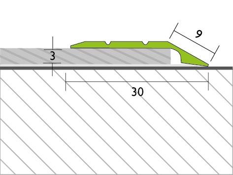 Proline Profinish Compensatieprofiel Tekening 3 mm
