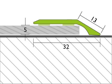 Proline Profinish Compensatieprofiel 5 mm Tekening Zelfklevend