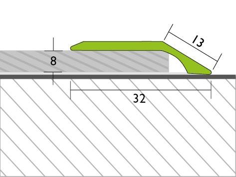Proline Profinish Compensatieprofiel 8 mm Tekening Voorgeboord