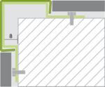 RVS Hoekbescherming inbouw tekening