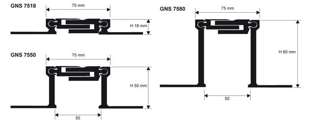 Voegprofiel GNS 75 tekening