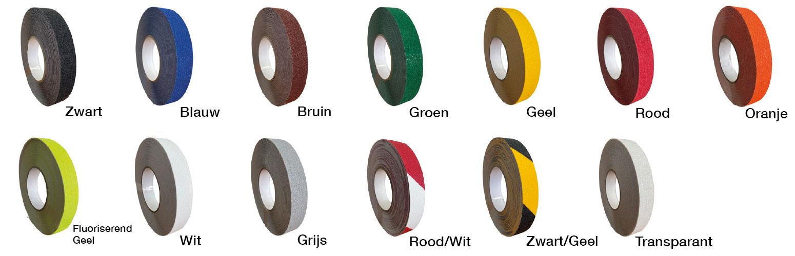 Antislip tape kleuren