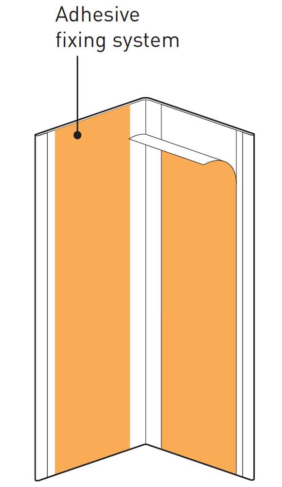 Hoekbeschermer SPM Combo Line Tekening plakstrip