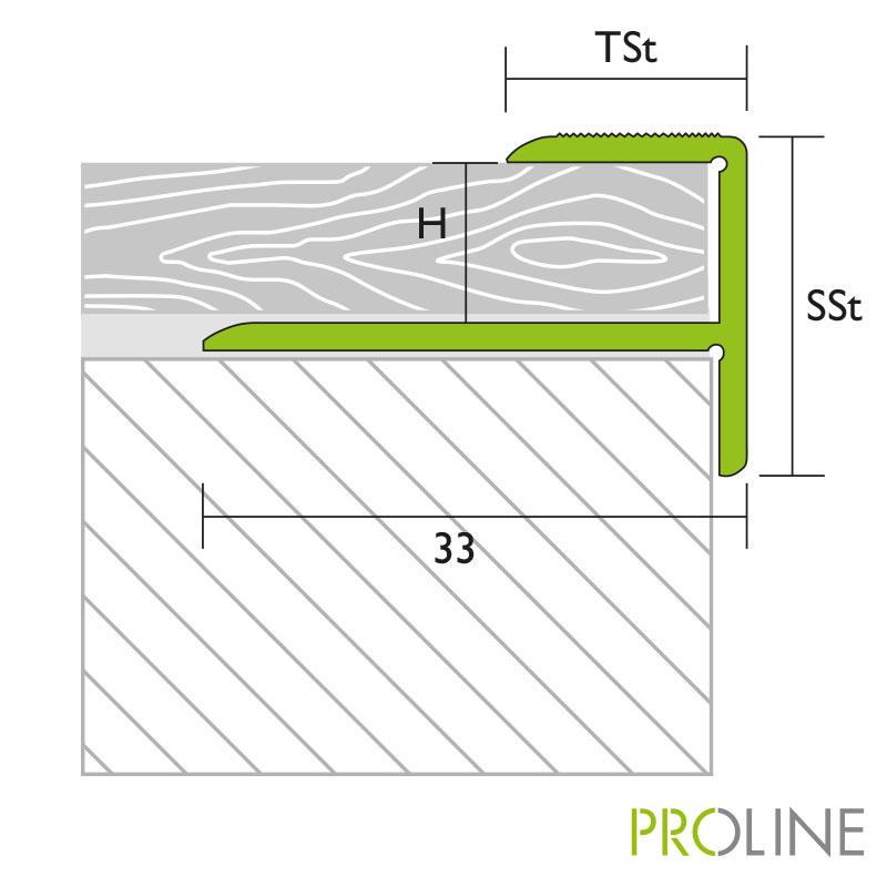 Proline Prostep Trapkant 33 Mm Tekening