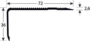 Trapneuzen aluminium tekening 1553