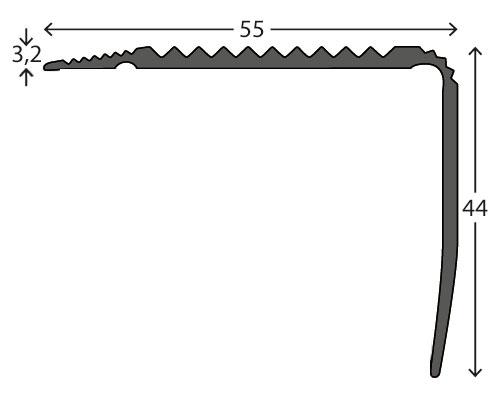 Trapneuzen aluminium tekening 4455