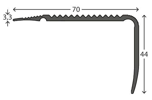 Trapneuzen aluminium tekening 4470