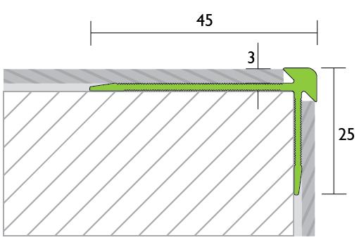 Traprandprofiel LVT Tekening