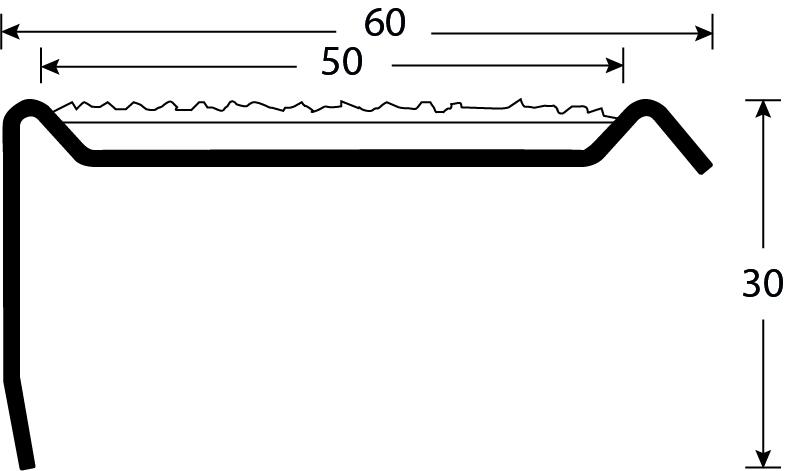 Trapneus RVS tekening