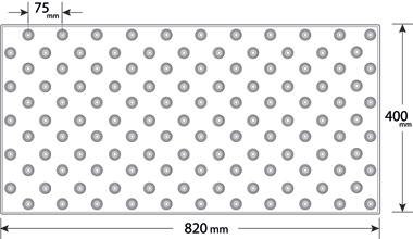 Podotactiele Tegels exteline tekening