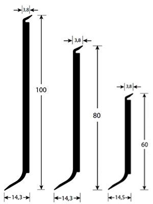 afmetingen romuflex shockplinten