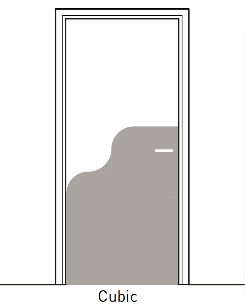 Deurbescherming Halve Deurpaneel Decoratief 1 kleur Cubic