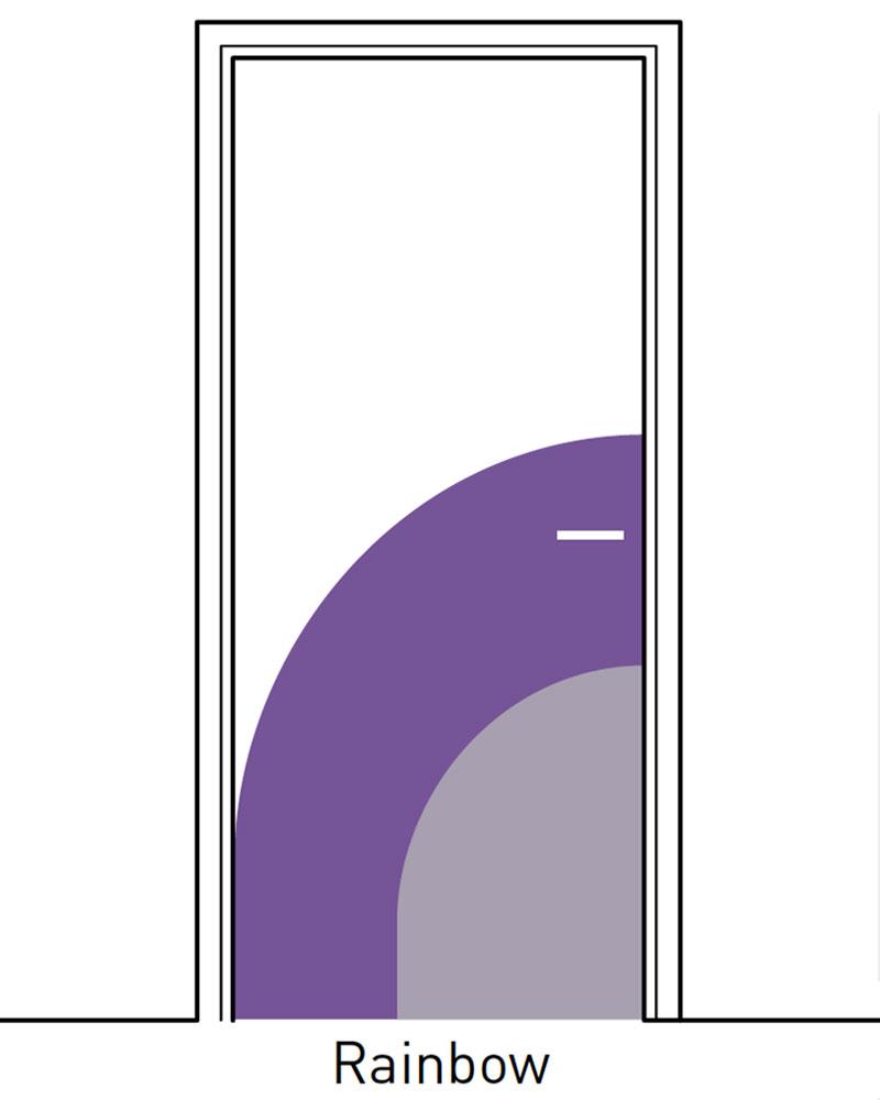 Deurbescherming Halve Deurpaneel Decoratief 2 kleuren Rainbow