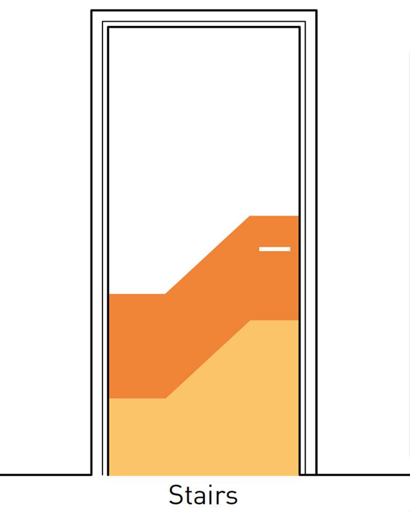Deurbescherming Halve Deurpaneel Decoratief 2 kleuren Stairs