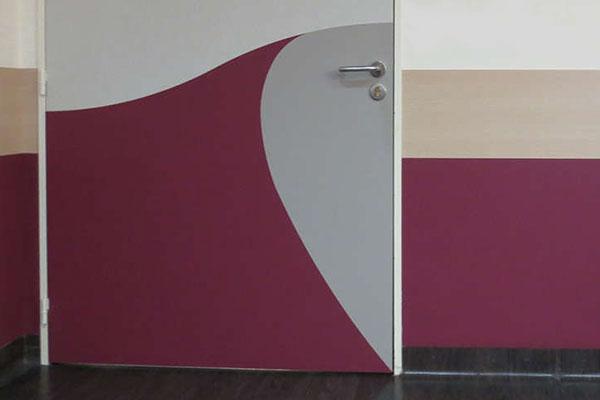 Deurbescherming Halve Deurpaneel Decoratief Twee Kleuren