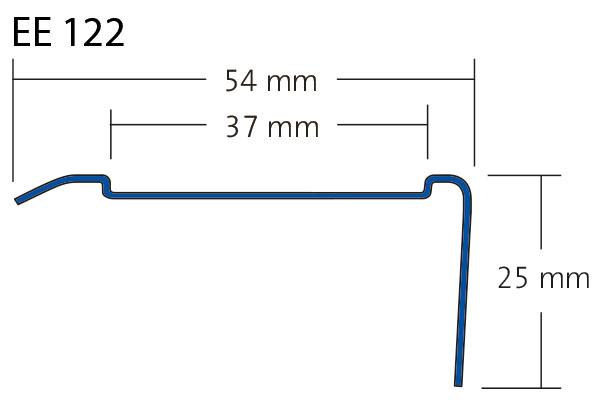Trapneus RVS Tredsafe EE 122 tekening