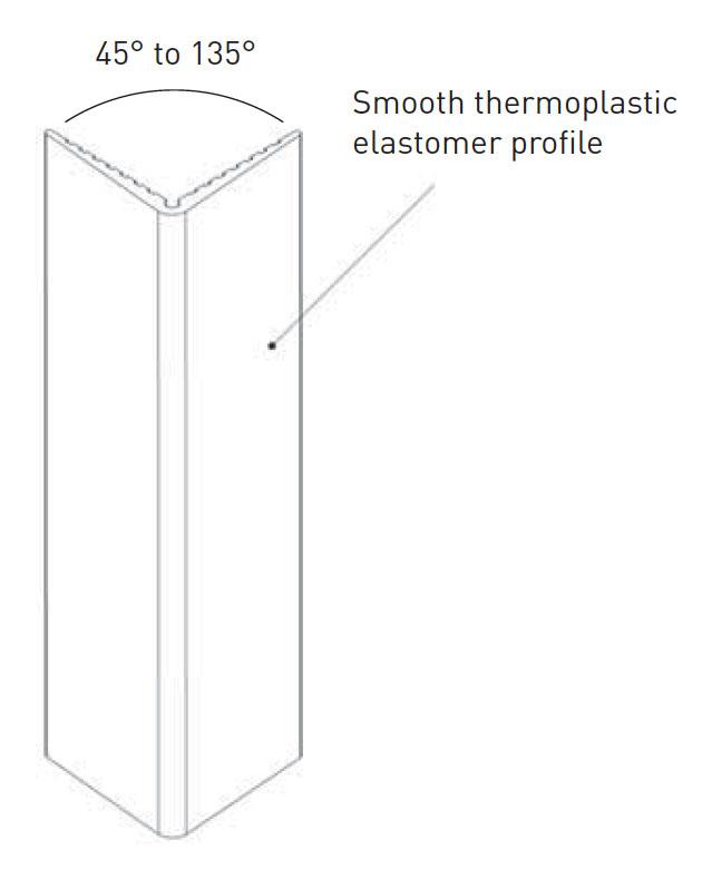 Hoekbeschermer SPM Elasto flex 100 V tekening