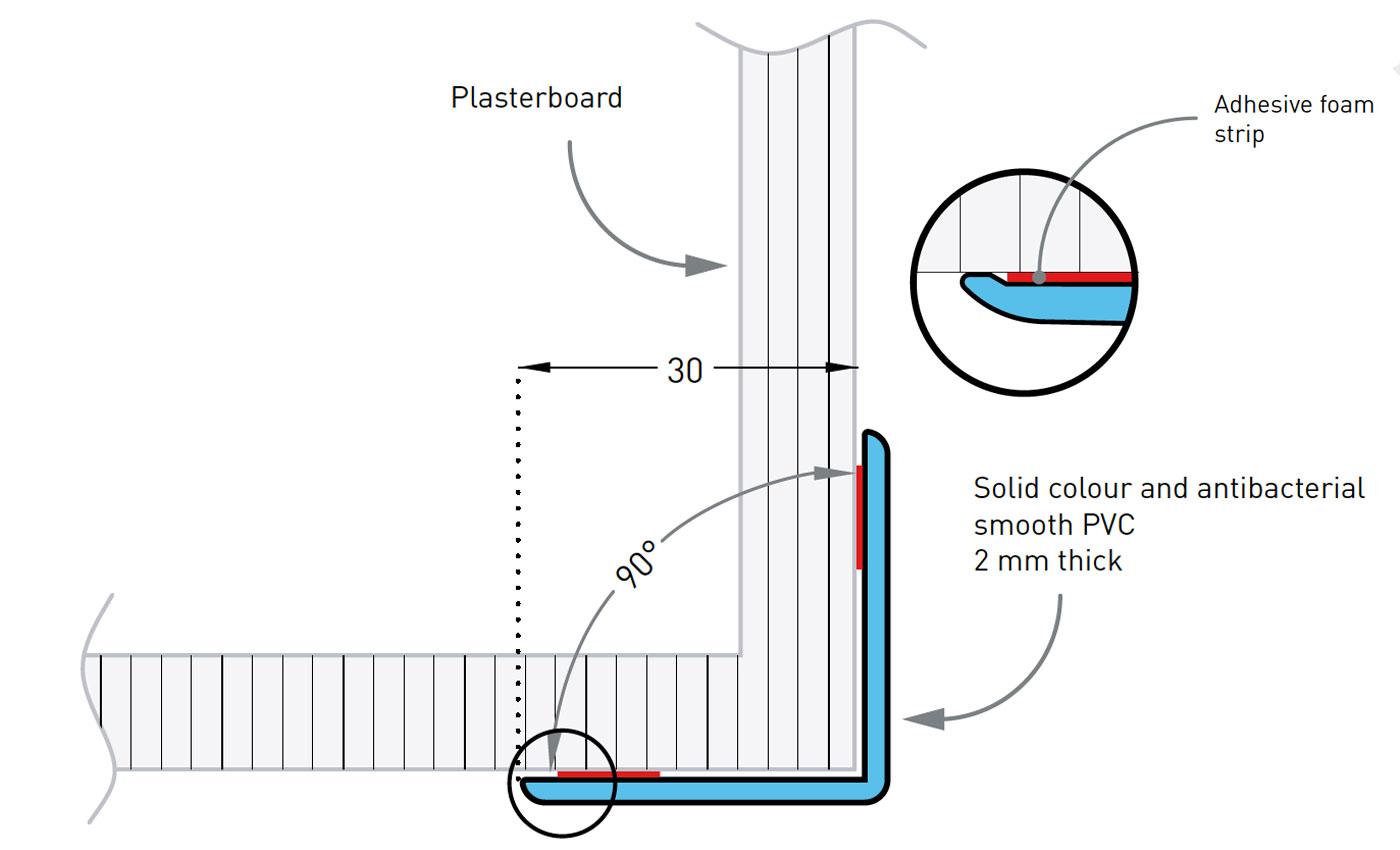 Hoekbeschermer SPM Profila 30 tekening