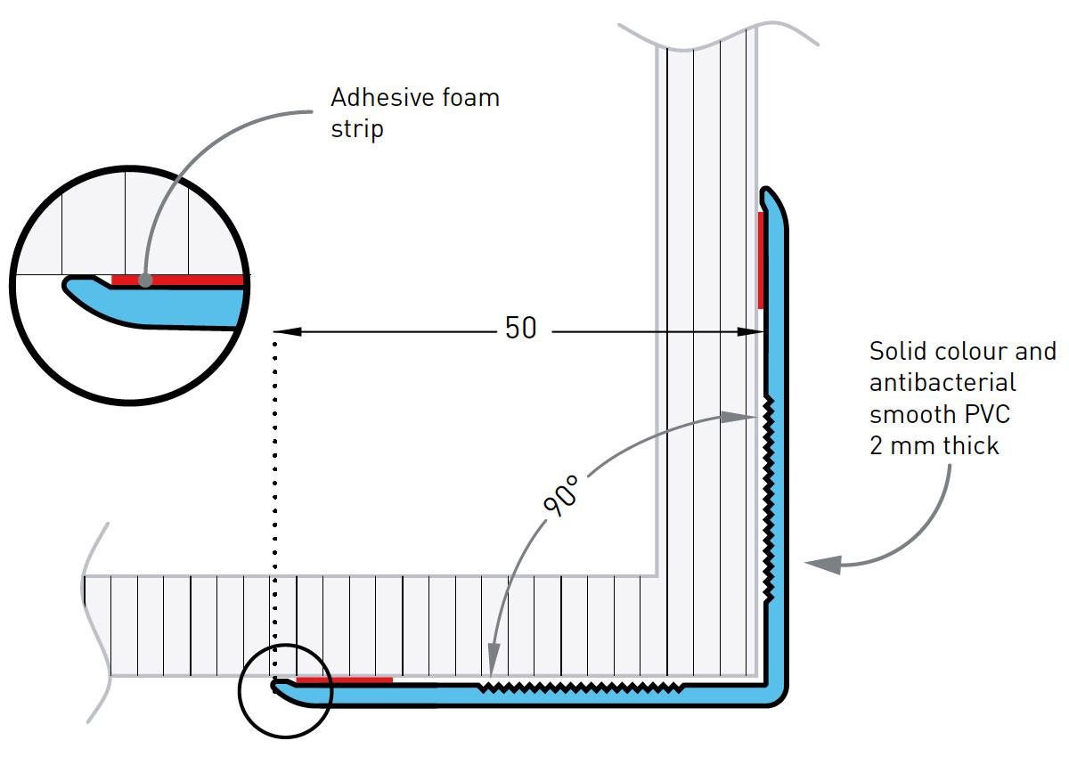 Hoekbeschermer SPM Profila 50 tekening
