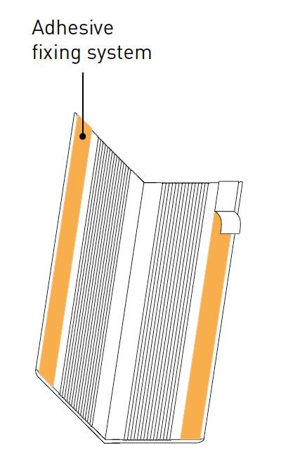 Hoekbeschermers SPM Profila plakstrip tekening