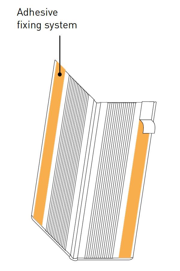 Hoekbeschermer Protecta 2 plakstrip tekening