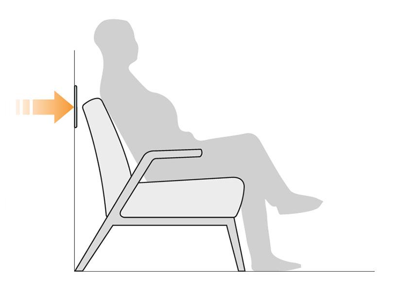 Muurstootlijsten tekening directe bescherming stoel