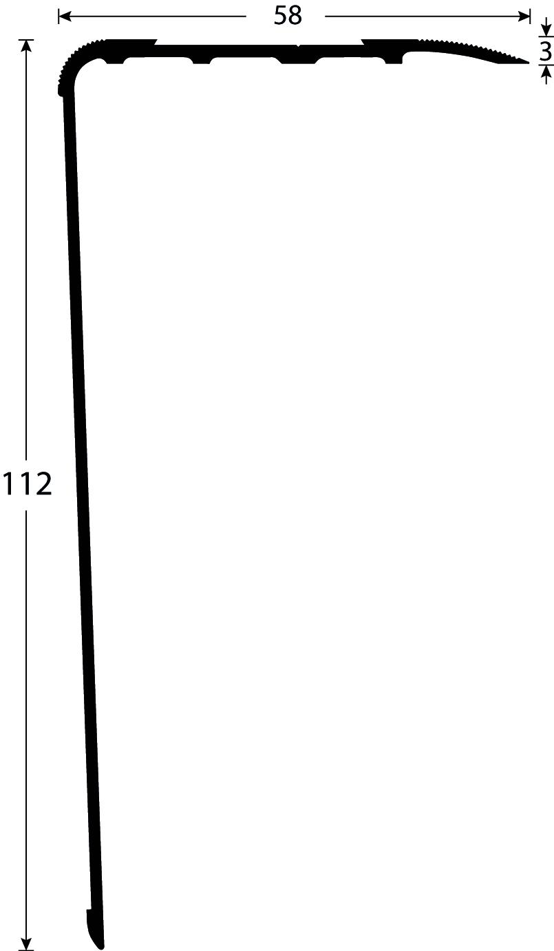 Toegankelijk Trappen Stootneus 2393 tekening