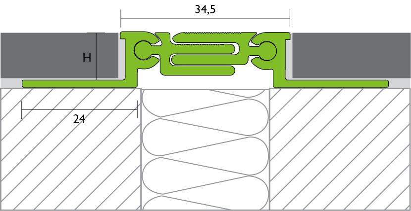 Proline Proconnex Move Dilatatieprofiel tekening