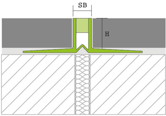 Proline Connex Voegprofiel PVC Tekening
