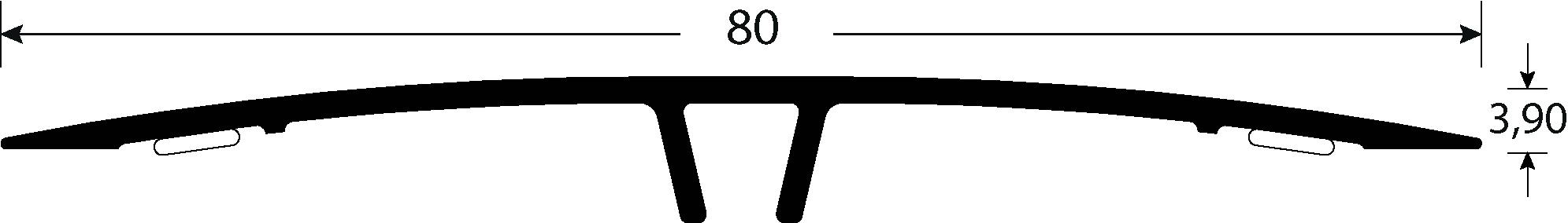 Romus Klemprofiel Wand Halfbol 80