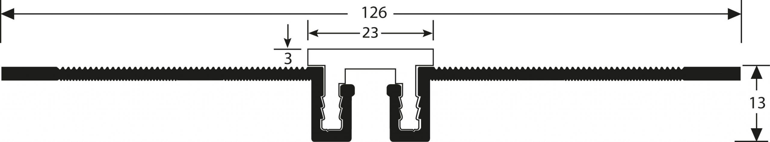 Romus Opbouw Dilatatieprofiel Tekening CJ-20+3