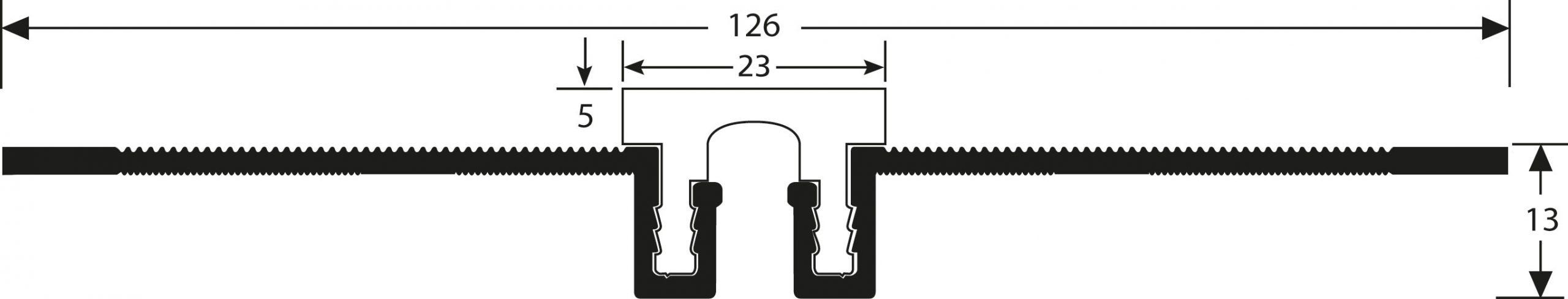 Romus Opbouw Dilatatieprofiel Tekening CJ-20+5