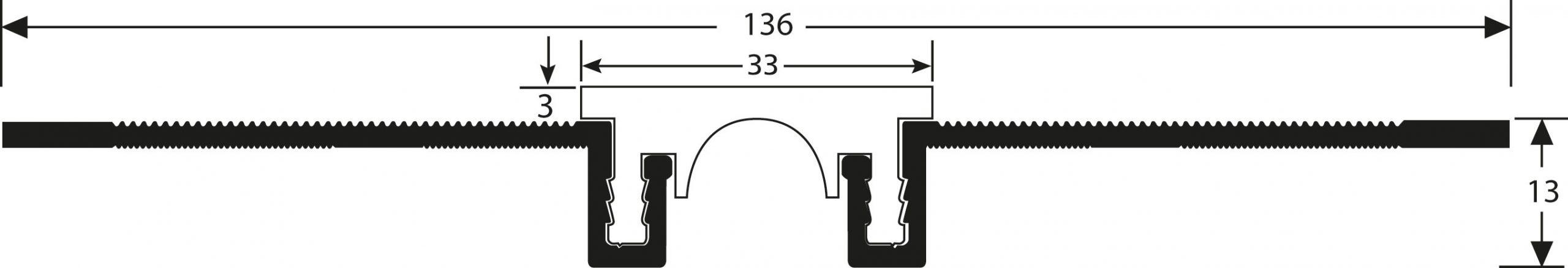 Romus Opbouw Dilatatieprofiel Tekening CJ-30+3