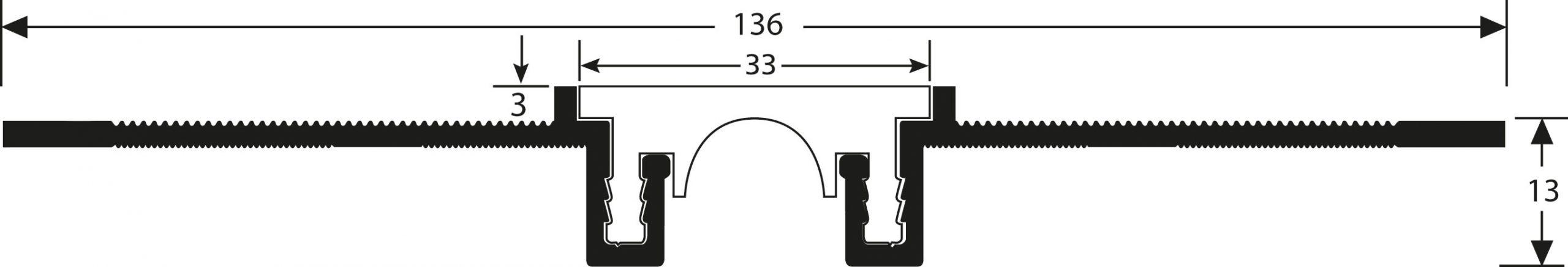 Romus Opbouw Dilatatieprofiel CJ-30B+3