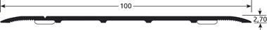 Voegafdekprofiel Afgeschuinde Randen Tekening 100