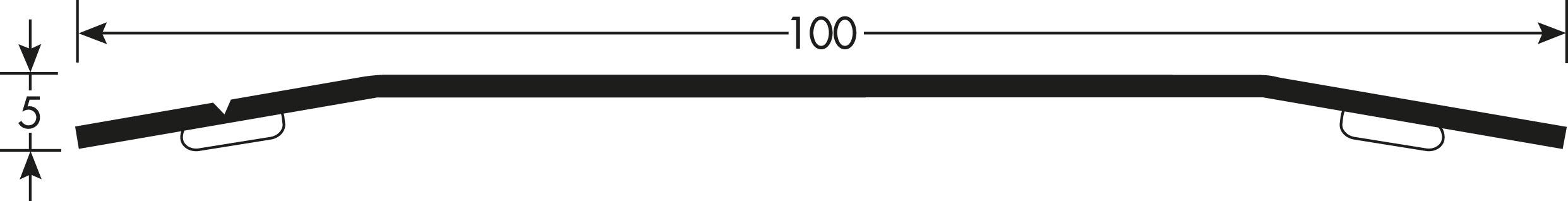 Romus Voegafdekprofiel Geborsteld RVS 100 Tekening
