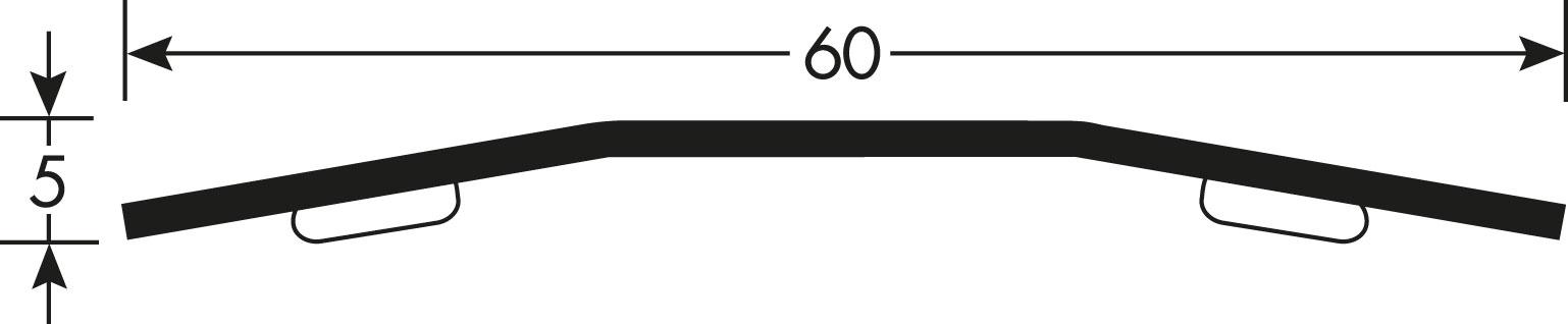 Romus Voegafdekprofiel Geborsteld RVS 60 Tekening