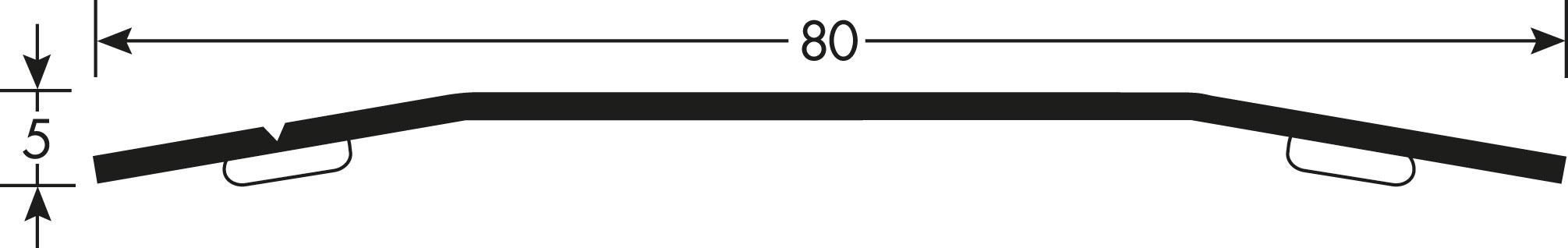Romus Voegafdekprofiel Geborsteld RVS 80 Tekening
