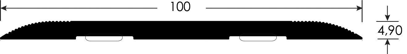 Romus Voegafdekprofiel Zware Belasting tekening 100