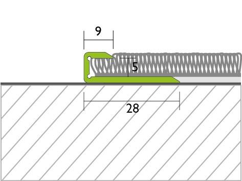 Proline Pro-ace Randprofiel Textiel Tekening
