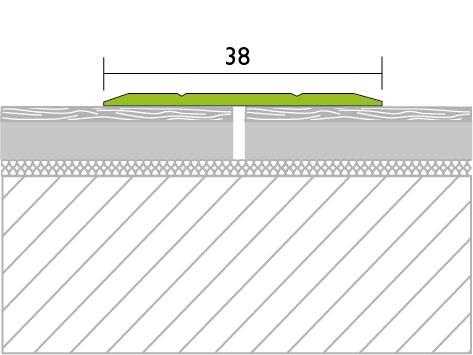 Proline Protrans Plat Alu Tekening 38 mm Voorgeboord