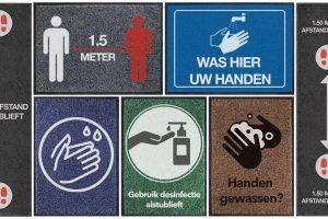 Logomatten Verzameling Hygiene En Afstand