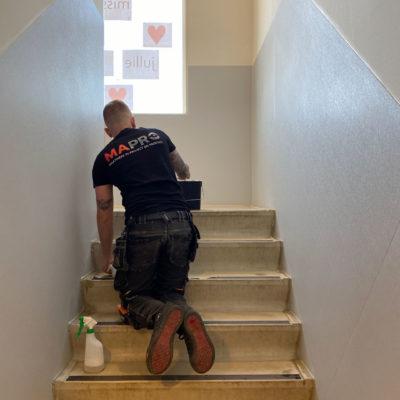 School Haarlem Wandbescherming Antislip Tape Installatie